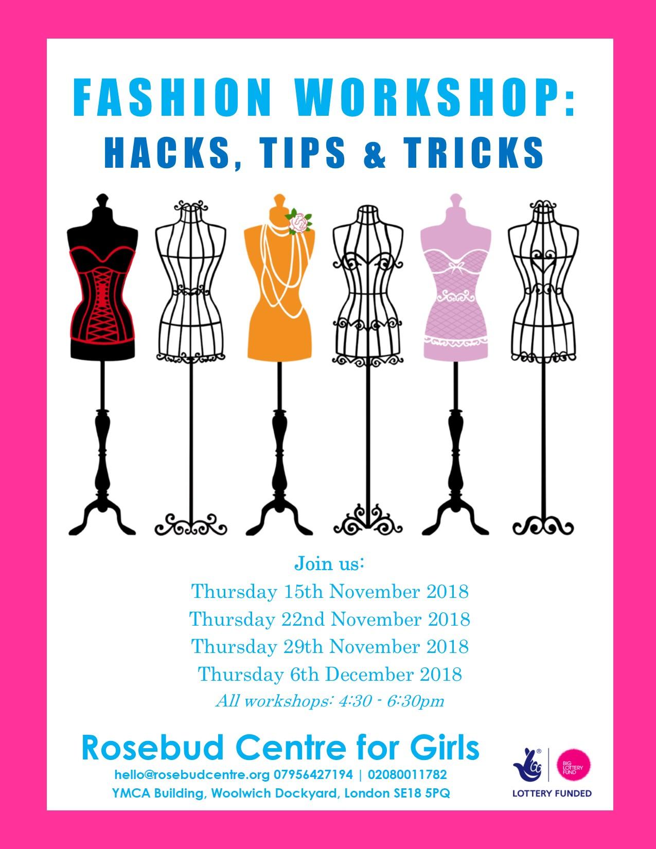 Fashion Workshop Hacks Tips And Tricks Rosebud Centre For Girls