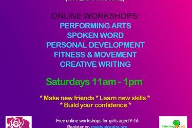 rosebud online workshops 2021 young women free