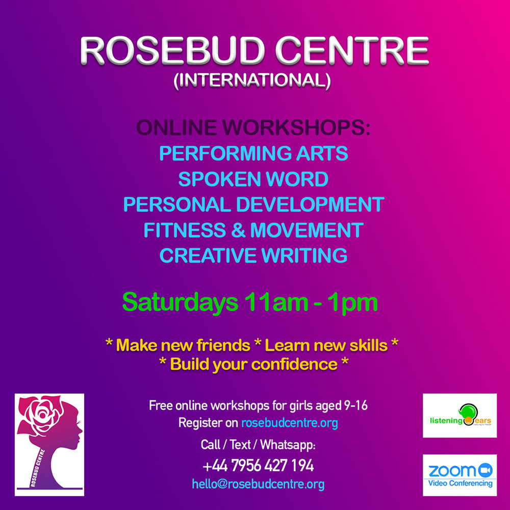 rosebud online workshops 2021 young women free